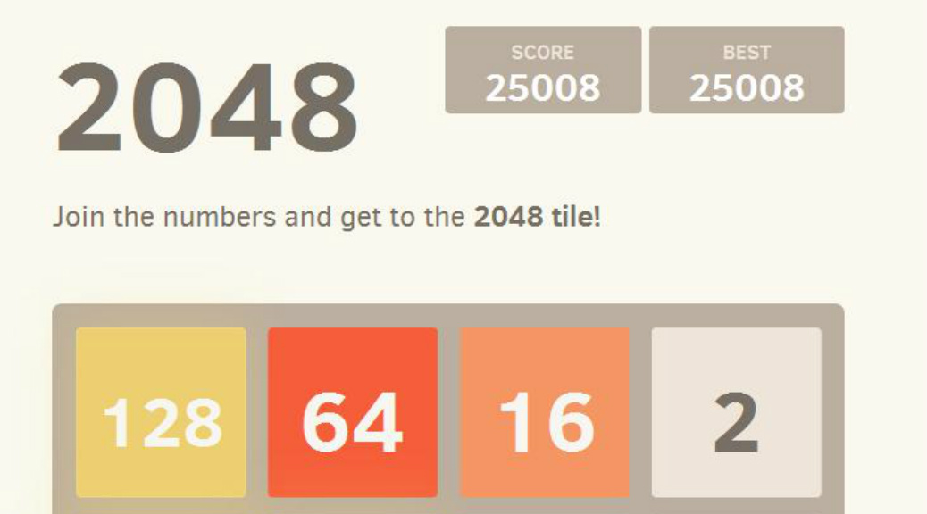 Down and Nerdy: The 2048 Edition